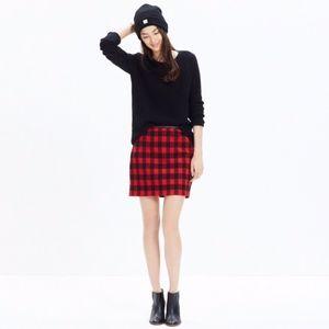 Madewell Gamine Skirt in Buffalo Check